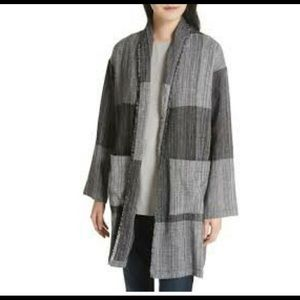 Eileen Fisher Cotton Cardigan Sz S/M Two Pockets